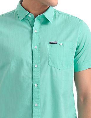 Flying Machine Standard Fit Short Sleeve Shirt