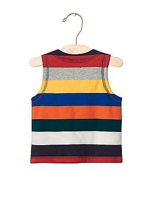 GAP Baby Multi Colour Bright Stripe Reversible Vest