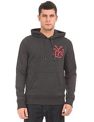 Aeropostale Printed Sleeve Hooded Sweatshirt