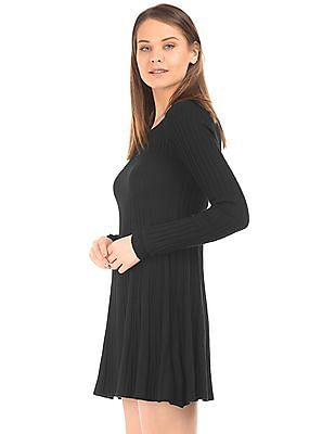 Aeropostale Long Sleeve Knit Skater Dress