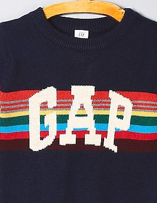 GAP Baby Full Sleeve Patterned Knit Sweater