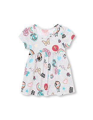 The Children's Place Toddler Girl Matchables Short Sleeve Printed Peplum Top