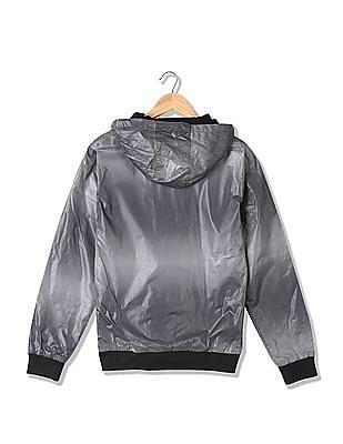 Flying Machine Printed Hooded Jacket