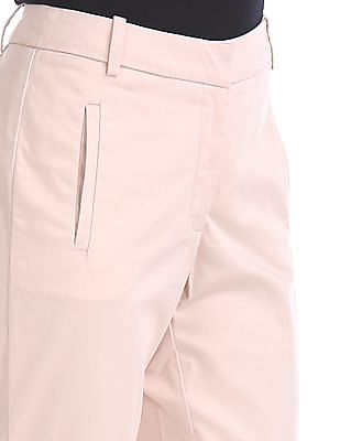 Arrow Woman Regular Fit Flat Front Trousers