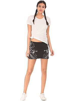 EdHardy Women Printed Quilted Mini Skirt