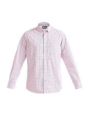 Nautica Long Sleeve Yarn Dyed Small Plaid Shirt