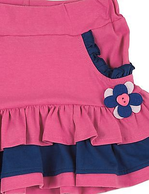 Donuts Girls tiered and flared skirt
