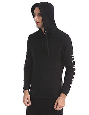 Ed Hardy Printed Hooded Sweatshirt