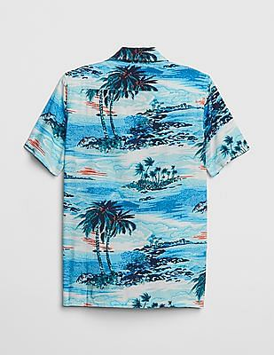 GAP Boys Print Short Sleeve Shirt