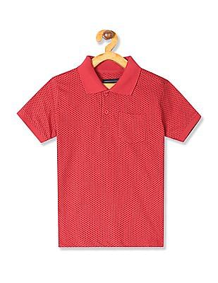 Cherokee Boys Patch Pocket Printed Polo Shirt