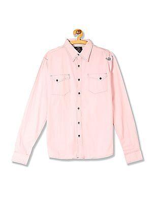Flying Machine Regular Fit Full Sleeve Shirt
