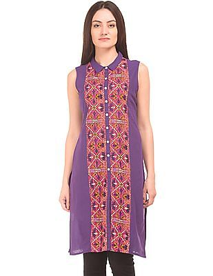 Karigari Printed Mock Placket Kurta