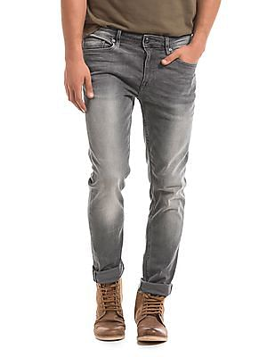 Ed Hardy Super Slim Fit Whiskered Jeans