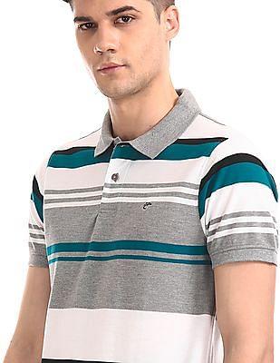 Ruggers Multi Colour Short Sleeve Striped Polo Shirt