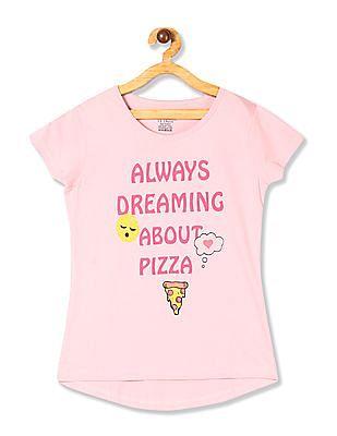 Cherokee Pink Girls Printed Cotton Jersey T-Shirt