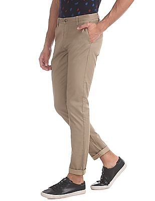 U.S. Polo Assn. Brown Austin Trim Regular Fit Mid Rise Trousers