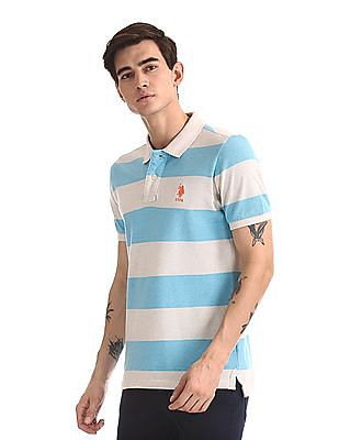 U.S. Polo Assn. Striped Pique Polo Shirt