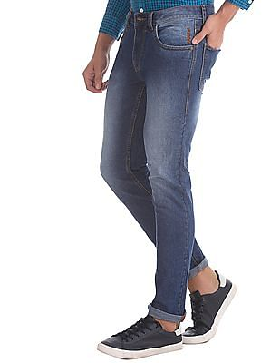 Flying Machine Blue Michael Slim Tapered Fit Low Waist Jeans