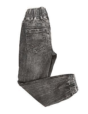 U.S. Polo Assn. Kids Boys Stone Wash Jogger Jeans