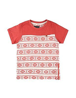 Cherokee Boys Printed Zip Hem T-Shirt