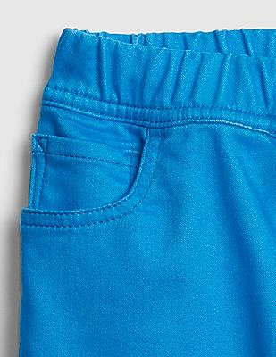 GAP Toddler Boy Blue Pull-On Roll Shorts
