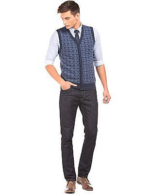 U.S. Polo Assn. Slim Fit Patterned Cardigan Vest