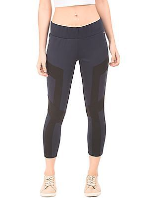 EdHardy Women Colour Block Panelled Leggings