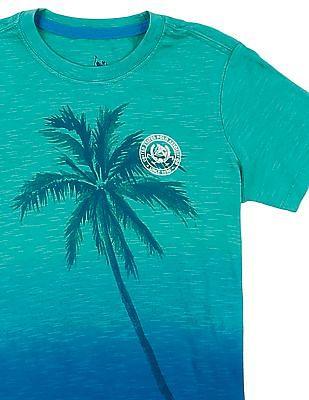 U.S. Polo Assn. Kids Boys Ombre Print Slub T-Shirt