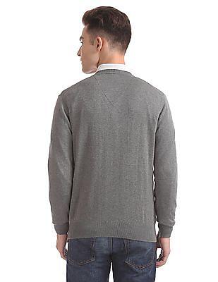 Arrow Sports Regular Fit V-Neck Sweater