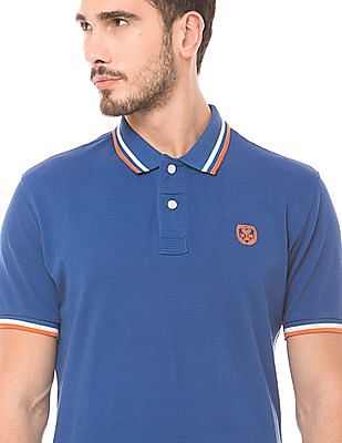 Flying Machine Tipped Regular Fit Polo Shirt