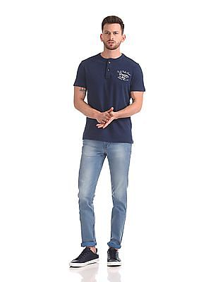 U.S. Polo Assn. Denim Co. Short Sleeve Solid Henley T-Shirt
