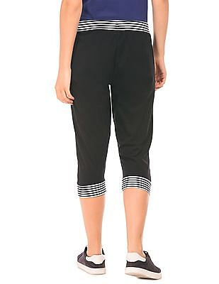 SUGR Striped Trim Cropped Joggers