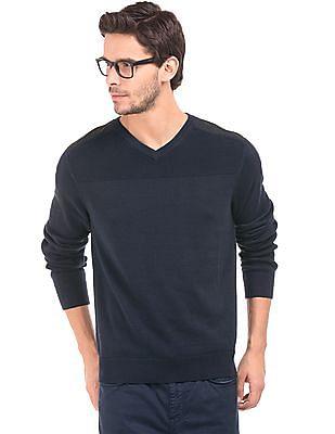 Nautica Patterned Knit Yoke Sweater
