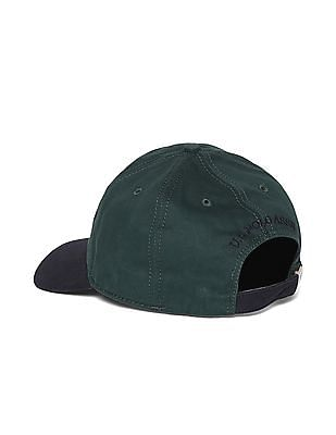 U.S. Polo Assn. Green And Navy Cotton Twill Cap