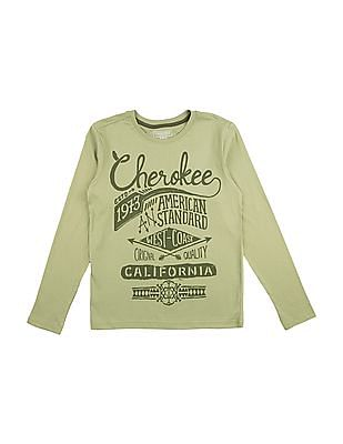 Cherokee Boys Long Sleeve Printed T-Shirt
