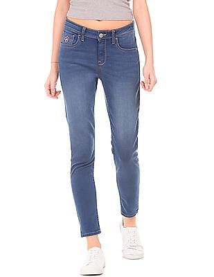 Flying Machine Women Mid Rise Skinny Jeans