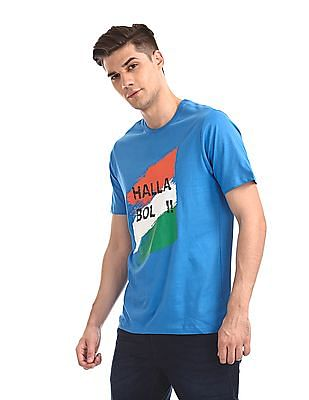 Colt Blue Short Sleeve Printed T-Shirt