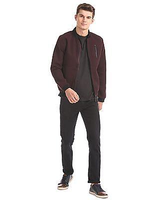 Ed Hardy Contrast Neck Bomber Jacket