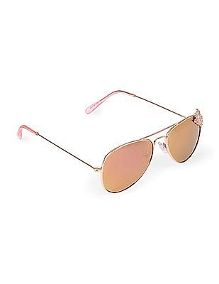 The Children's Place Girls Flower Icon Metal Sunglasses