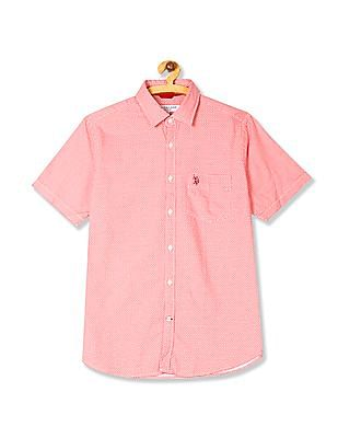 U.S. Polo Assn. Red Short Sleeve Printed Shirt