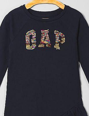 GAP Girls Flippy Sequin Logo Dress