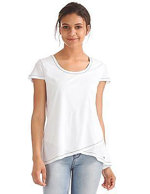 669518b42 Buy Women Seasonal Essential Cap Sleeve Criss Crossed Top online ...