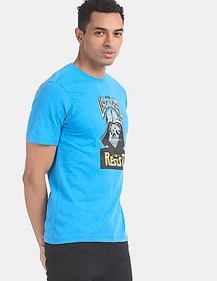 Colt Men Blue Crew Neck Darth Vader Graphic T-Shirt