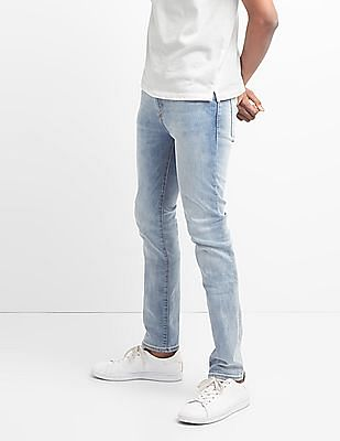 GAP Washwell Light Indigo Jeans In Skinny Fit With Gapflex