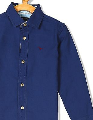 FM Boys Boys Short Sleeve Solid Shirt