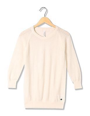 U.S. Polo Assn. Women Patterned Knit Sweater Top
