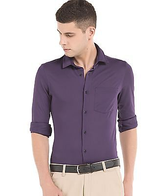Arrow Newyork Panelled Slim Fit Shirt