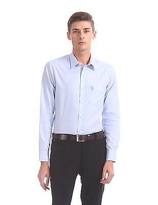 USPA Tailored Tailored Regular Fit Patterned Shirt
