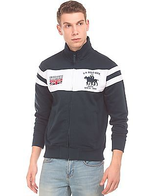 U.S. Polo Assn. Colour Block Zip Up Sweatshirt