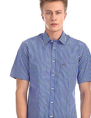 Arrow Sports Regular Sport Fit Striped Shirt